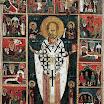 Никола с Христом, Богородицей, Святыми Косьмой и Дамианом и шестнадцатью клеймами. Начало XIV в.jpg